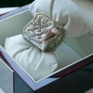 pierscien-podskarbiego-włoszka-mosidz-srebrzony
